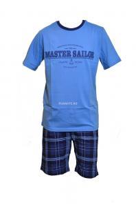 Мъжка пижама, къс ръкав 12248